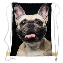 Francia Bulldog mintás hátizsák - bézs 2