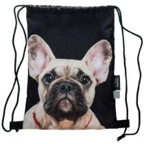 Francia Bulldog mintás hátizsák - bézs