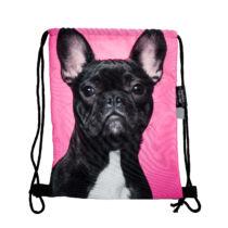 Francia Bulldog mintás hátizsák - fekete 3