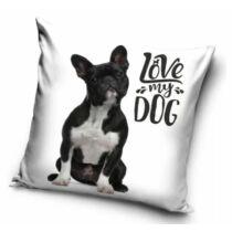 Francia Bulldog mintás párna - love my dog