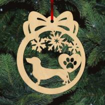 Tacskó karácsonyfadísz