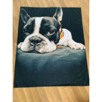Francia Bulldog takaró - fekete fehér