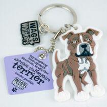 Amerikai staffordshire terrier kulcstartó - w&w