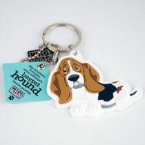 Basset hound kulcstartó - w&w