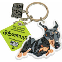 Dobermann kulcstartó - w&w