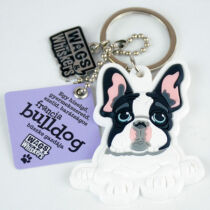 Francia Bulldog kulcstartó - w&w