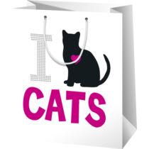 i Love my Cat ajándék tasak - oriás