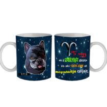 Francia Bulldog horoszkópos bögre