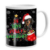 Tacskós karácsonyi bögre