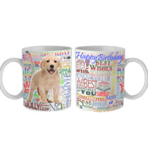 Labrador Happy Birthday feliratos bögre