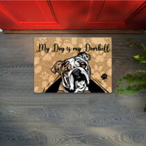 Angol Bulldog mintás lábtörlő - doorbell