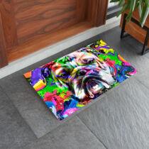 Angol Bulldog mintás lábtörlő - color