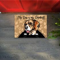 Beagle mintás lábtörlő - welcome
