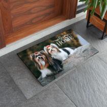 Biewer terrier mintás lábtörlő - welcome