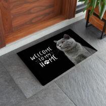 Brit macskás lábtörlő - welcome