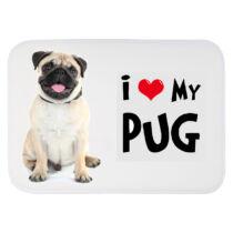 Mopsz mintás szőnyeg - love my pug