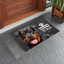 Rottweiler mintás lábtörlő - beware