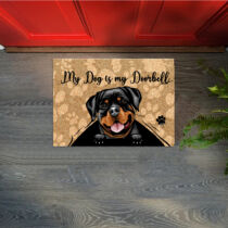 Rottweiler mintás lábtörlő - doorbell