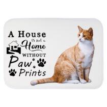 Vörös cicás szőnyeg - a house