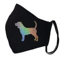 Beagle fekete szájmaszk - hologram