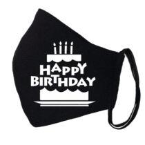 Születésnapi fekete szájmaszk