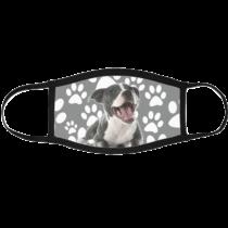 Amstaff mintás szájmaszk fekete peremmel - puppy
