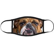 Angol Bulldog mintás szájmaszk fekete peremmel 2