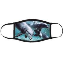 Delfin mintás szájmaszk fekete peremmel