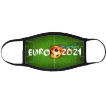 Euro 2021 szájmaszk fekete peremmel
