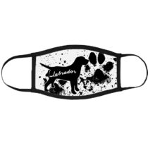 Labrador mintás szájmaszk fekete peremmel