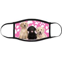 Labrador mintás szájmaszk fekete peremmel - puppy