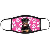 Rottweiler mintás szájmaszk fekete peremmel - mancsos