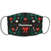 Karácsonyos szájmaszk - merry christmas