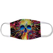 Skull mintás szájmaszk - abstract