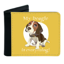Beagle mintás fekete műbőr pénztárca - everything