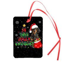 Tacskó karácsonyi autóillatosító