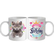 Brit macskás bögre - Happy Birthday
