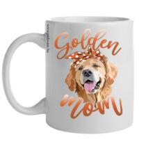 Golden retriever bögre - mom