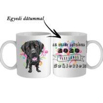 Labradoros születésnapi bögre - egyedi dátummal