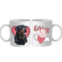 Rottweiler bögre - love