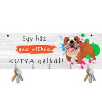 Angol Bulldogos fali kulcstartó