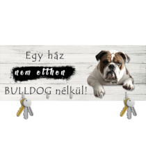 Angol Bulldogos fali kulcstartó 3