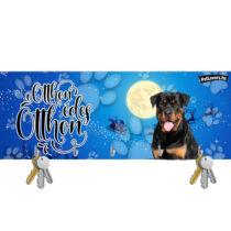 Rottweiler karácsonyi fali kulcstartó
