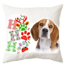 Beagle mintás karácsonyi párna - hohoho