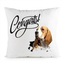 Beagle mintás párna - gratulálunk