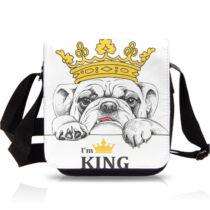Angol Bulldog mintás oldaltáska - King