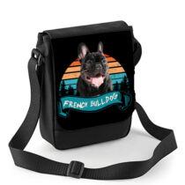 Francia Bulldog mintás oldaltáska - color