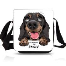 Tacskó oldaltáska - smile
