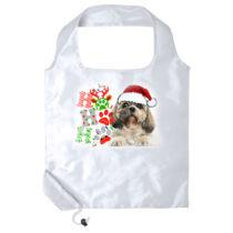 Shih Tzu mintás karácsonyi összehajtható bevásárlótáska
