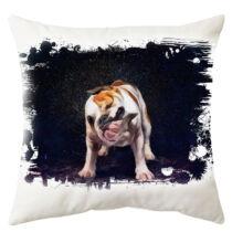 Angol Bulldog mintás párna - paint wet